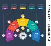 business presentation or... | Shutterstock .eps vector #725575273