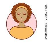 avatar of a beautiful woman.... | Shutterstock .eps vector #725577436