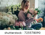 people  business  sale and...   Shutterstock . vector #725578090