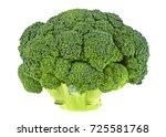 fresh broccoli on a white... | Shutterstock . vector #725581768