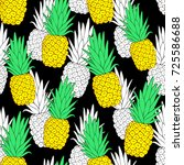 tropical seamless pattern with... | Shutterstock .eps vector #725586688