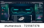 futuristic user interface for... | Shutterstock .eps vector #725587378