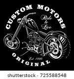 illustration of motocycle with... | Shutterstock .eps vector #725588548