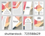 abstract vector layout... | Shutterstock .eps vector #725588629