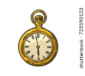 antique pocket watch. vintage... | Shutterstock .eps vector #725590123