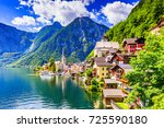 Stock photo hallstatt austria mountain village in the austrian alps 725590180