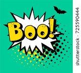 halloween style pop art icon... | Shutterstock .eps vector #725590444