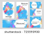 abstract vector layout... | Shutterstock .eps vector #725593930