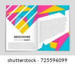 abstract vector layout... | Shutterstock .eps vector #725596099