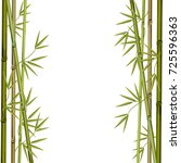 frame made of bamboo branches.... | Shutterstock .eps vector #725596363