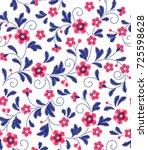 floral background in vintage... | Shutterstock .eps vector #725598628