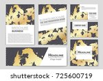 abstract vector layout... | Shutterstock .eps vector #725600719
