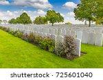 french graves at lijssenthoek... | Shutterstock . vector #725601040