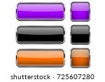 set of colored buttons with... | Shutterstock .eps vector #725607280