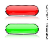 red and green buttons with... | Shutterstock .eps vector #725607298
