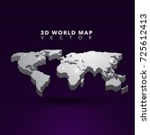 3d map vector | Shutterstock .eps vector #725612413