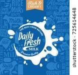 vector milk logo. milk  yogurt  ... | Shutterstock .eps vector #725614648