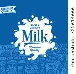 vector milk logo | Shutterstock .eps vector #725614666
