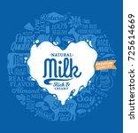 vector milk logo | Shutterstock .eps vector #725614669