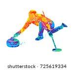 curling game sport   Shutterstock .eps vector #725619334
