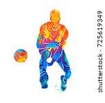basketball player  ball   Shutterstock .eps vector #725619349