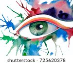 watercolor illustration of an... | Shutterstock . vector #725620378