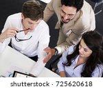 co workers meeting   Shutterstock . vector #725620618