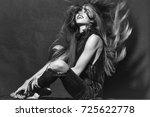 attractive sensual young...   Shutterstock . vector #725622778