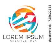business abstract logo design....   Shutterstock .eps vector #725622958
