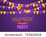 halloween party background... | Shutterstock .eps vector #725624428
