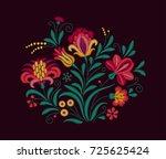vector oriental motif of... | Shutterstock .eps vector #725625424