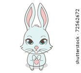 cute funny bunny with big eyes  ...   Shutterstock .eps vector #72562672