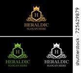 heraldic royal crest logo... | Shutterstock .eps vector #725629879