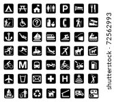 illustrated set of signs... | Shutterstock . vector #72562993