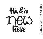 hi  i am new here   unique fun... | Shutterstock .eps vector #725635309