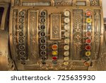 old  antique cash register ... | Shutterstock . vector #725635930