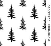 pine tree seamless pattern on... | Shutterstock .eps vector #725637790