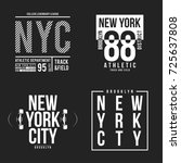 new york  brooklyn typography... | Shutterstock .eps vector #725637808