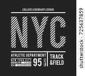 new york  brooklyn typography...   Shutterstock .eps vector #725637859