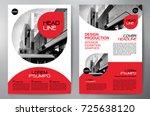 business brochure. flyer design.... | Shutterstock .eps vector #725638120
