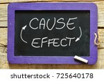 cause effect word written on... | Shutterstock . vector #725640178