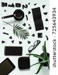 desktop. black style  2018.... | Shutterstock . vector #725643934