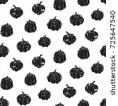 grunge seamless pattern with... | Shutterstock .eps vector #725647540