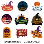 set of halloween signs  badges... | Shutterstock .eps vector #725650960
