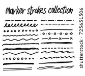 collection of handdrawn borders ... | Shutterstock .eps vector #725651506