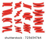 ribbon vector icon set on white ... | Shutterstock .eps vector #725654764