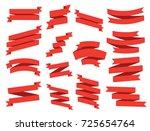 ribbon vector icon set on white ... | Shutterstock .eps vector #725654764