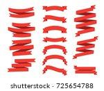 ribbon vector icon set on white ... | Shutterstock .eps vector #725654788