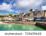 panoramic view of cancale ... | Shutterstock . vector #725659633
