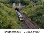 Small photo of Hassocks, West Sussex. 30 September 2017. A Govia Thameslink British Rail Class 700 train travels through the Clayton Tunnel from London to Brighton.